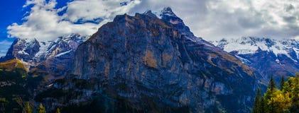 Erstaunliche Landschaft in Murren Stockbild