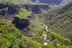 Erstaunliche Landschaft vom Tempel Garni Lizenzfreies Stockbild