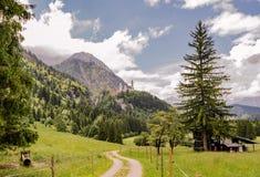 Erstaunliche Landschaft von Bayern mit Ansichten von Neuschwanstein-Schloss, Deutschland Lizenzfreie Stockfotografie