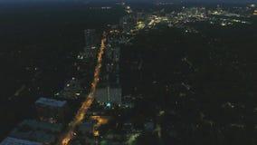 Erstaunliche Panoramabrummen-Flugansicht der Antenne 4k über große beschäftigte moderne städtische Atlanta-Stadtwolkenkratzer in  stock footage
