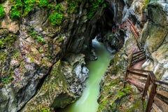 Erstaunliche Schlucht Lammerklamm in Salzkammergut-Region, Österreich, Europa Lizenzfreie Stockfotografie