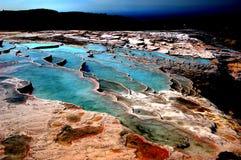 Erstaunliche Seen des Sodas (Natriumbikarbonat) Lizenzfreie Stockfotos