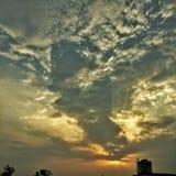 Erstaunliche Sonnenuntergangansicht Lizenzfreie Stockfotos