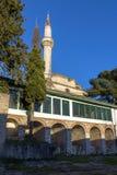 Erstaunliche Sonnenuntergangansicht von Aslan Pasha Mosque im Schloss der Stadt von Ioannina, Epirus, Griechenland stockfoto