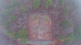 Erstaunliche Vogelperspektive des Felsens Hawk Effigy Mound lizenzfreies stockfoto