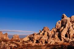Erstaunliche vulkanische Landschaft von Goreme Cappadocia, die Türkei in einem bea stockfotografie