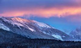 Erstaunliche Winter-Landschaft Lizenzfreie Stockfotografie