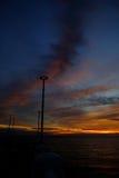 Erstaunliche Wolken bei Sonnenuntergang Lizenzfreies Stockfoto