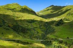 Erstaunlicher Bergblick in den österreichischen Alpen Hohe Straße Zillertal Österreich, Tirol, Zillertaler Hoehenstrasse Lizenzfreie Stockfotos