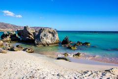 Erstaunlicher malerischer Meerblick Elafonisi-Insel, Griechenland lizenzfreies stockbild