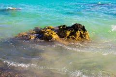 Erstaunlicher malerischer Meerblick Elafonisi-Insel, Griechenland stockfoto