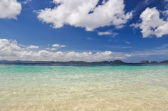 Erstaunlicher Ozean nahe EL Nido - Palawan, Philippinen lizenzfreies stockfoto