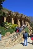 Erstaunlicher Park Guell, Barcelona, Spanien Lizenzfreies Stockfoto