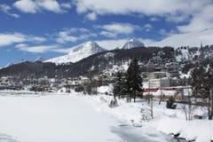 Erstaunlicher ruhiger Schuss der Schweizer Landschaft Stockbilder
