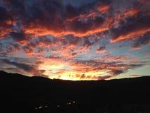 Erstaunlicher Sonnenuntergang über Marin Headlands Lizenzfreies Stockbild