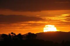 Erstaunlicher Sonnenuntergang Stockfotos