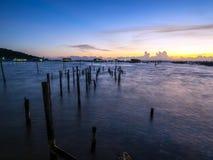 Erstaunlicher Sonnenuntergang Lizenzfreie Stockfotografie