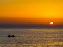 Erstaunlicher Sonnenuntergang stockbild