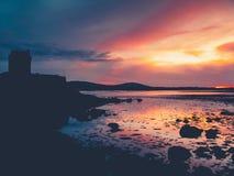 Erstaunlicher Sonnenuntergang in Süd-Irland Stockbild