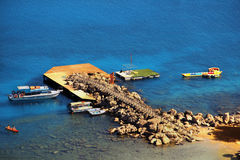 Erstaunlicher Standort in Lindos, Rhodos, Griechenland Stockbild