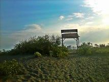 Erstaunlicher Strand, Ada Bojana, Montenegro, Europa Lizenzfreie Stockbilder
