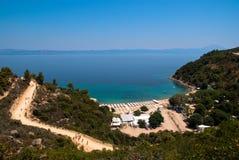 Erstaunlicher Strand Griechenland Sarti Lizenzfreies Stockfoto
