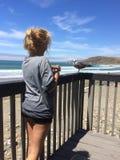 Erstaunlicher Tag auf Strand Stockbilder