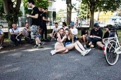 Erstaunlicher Tag Mailand 2016 stockbilder
