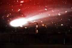 Erstaunlicher und schrecklicher Komet stockfotografie