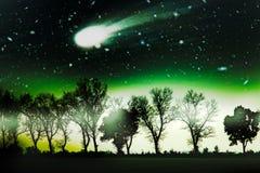 Erstaunlicher und schrecklicher Komet lizenzfreie stockbilder