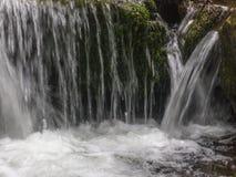 Erstaunlicher Wasserfall in der tiefen Waldlandschaft Stockfoto