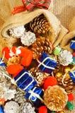 Erstaunlicher Weihnachtshintergrund, buntes Weihnachtsmaterial Lizenzfreie Stockfotografie