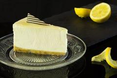 Erstaunlicher Zitronen-Käsekuchen lizenzfreies stockfoto