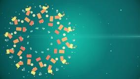 Erstaunliches abstraktes rundes multi Farbmuster mit ultra komplexem Bewegungs-Hintergrund der Struktur-zwölf stock abbildung