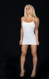 Erstaunliches blondes behaartes Modell im Studio. Lizenzfreie Stockbilder