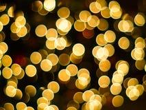 Erstaunliches bokeh der Weihnachtsleuchten Stockfotos