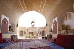 Erstaunliches Kreisoberlicht innerhalb Tabatabaei-Hauses, ein historisches Haus in Kashan der Iran Lizenzfreies Stockfoto