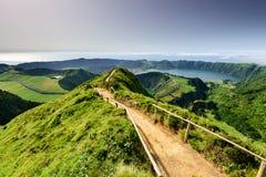 Erstaunliches lpanoramic andscape Azoren Lizenzfreie Stockbilder