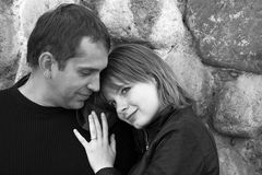 Erstaunliches Paarportrait Lizenzfreie Stockfotos