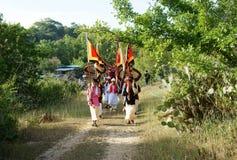 Erstaunliches panoramisches, Kate-Festival, traditionelle Kultur des Cham Lizenzfreie Stockfotos
