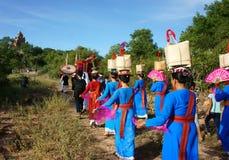 Erstaunliches panoramisches, Kate-Festival, traditionelle Kultur des Cham Stockfotografie