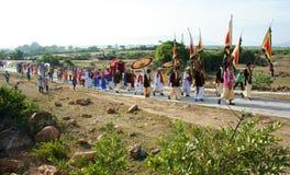 Erstaunliches panoramisches, Kate-Festival, traditionelle Kultur des Cham lizenzfreies stockbild