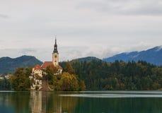 Erstaunliches Schloss blutete See Stockfotografie