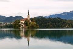 Erstaunliches Schloss blutete See Lizenzfreies Stockfoto
