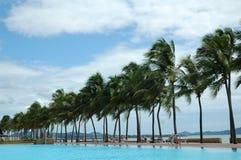 Erstaunliches Swimmingpoolrecht nahe dem Meer. Lizenzfreies Stockbild