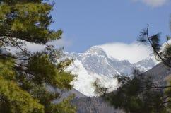 Erste Ansicht des Mount Everests Stockfoto