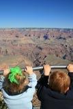 Erste Ansicht von Grand Canyon lizenzfreie stockfotos