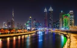 Erste Ansichten von der Oberseite des Burj Khalifa Stockfotografie