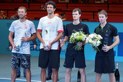 Erste Bank Open Doubles Finalists Royalty Free Stock Image