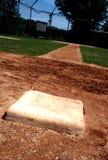 Erste Base auf Baseballfeld Lizenzfreie Stockfotos